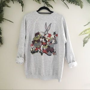 Vintage 90's Looney Tunes Gray Sweatshirt